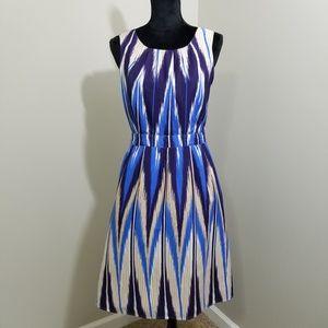 Banana Republic Chevron Sleeveless Dress SZ 4